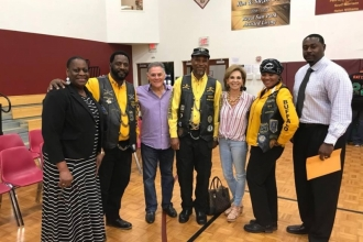 Board Members and Buffalo Soldiers